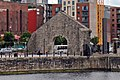 Salthouse Dock transit shed wall, Liverpool (geograph 4545355).jpg