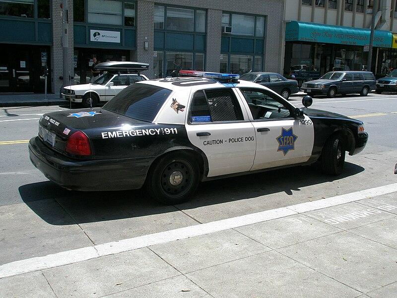Cop Car Parking Car Cop Light Bright