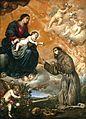 San Francisco de Asís en la Porciúncula, de Antonio de Pereda y Salgado (Museo del Prado).jpg