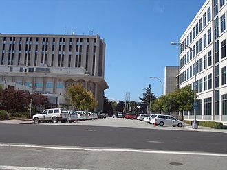 San Mateo County, California - San Mateo County Government Center in Redwood City, facing northwest
