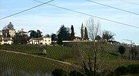 San Pietro di Feletto, panorama con la pieve.jpg