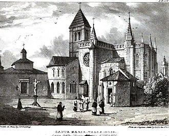 Santa María La Antigua - Image: Santa María Antigua, Valladolid 1823 Edward Hawke Locker