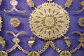 Sari, Varanasi, Uttar Pradesh, India, view 2, 20th century, silk, gold thread - Textile Museum of Canada - DSC00956.JPG