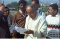 Saroj Ghose Checks Programme Details - Convention Centre Inaugural Ceremony - Science City - Calcutta 1996-12-21 079.tif