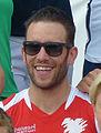 Sascha Pederiva beim ARD Beachvolleyball-Starcup 2014.JPG