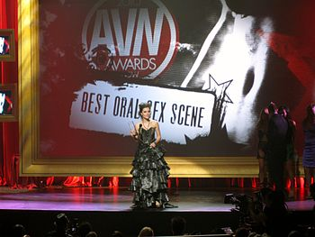 Sasha Grey Accepting the AVN Award For Best Or...
