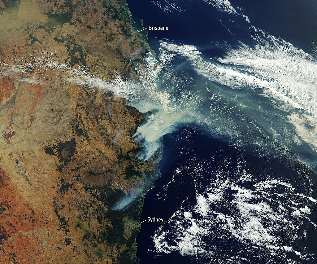 Bushfire smoke over Eastern Australia (European Space Agency/CC 2.0)