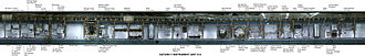 Saturn V Instrument Unit - Interior of IU-514, with components labeled