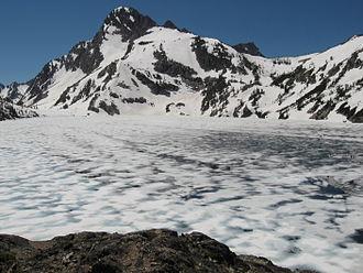 Sawtooth Wilderness - Sawtooth Lake and Mount Regan in June 2008