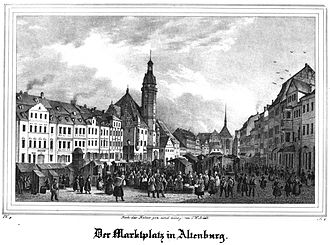 Altenburg - Market square in 1839