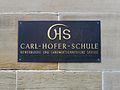 Schild Carl-Hofer-Schule Karlsruhe.JPG