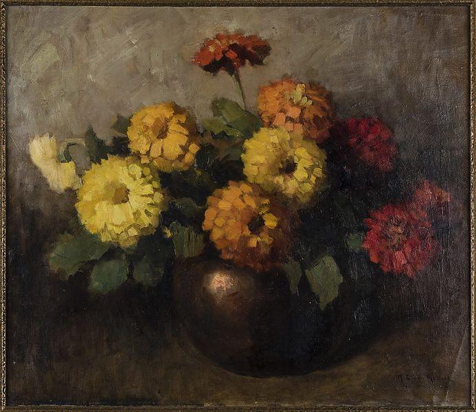 File:Schilderij, voorstellende een bloemstilleven, vervaardigd door H.C. van Mourik(1877-1944).jpg