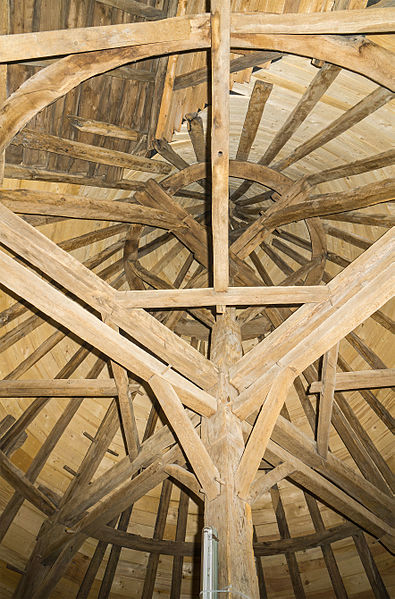 Roof truss of the west tower of the Castle of Aspelt