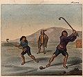 Schmidtmeyer- Scharf, George Johann - Mapuche playing chueca -JCB Library f1.0.jpg