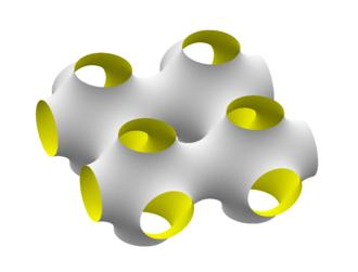 Schwarz minimal surface - Schwarz P surface