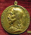 Scuola romana sotto leone X, medaglia di cristo (bronzo dorato).JPG