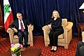 Secretary Clinton Holds a Bilateral With Lebanese President Sleiman (5022310622).jpg