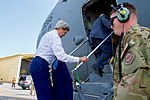 Secretary Kerry Boards the C-17 Aircraft in Manama for a Flight to Baghdad (25700734883).jpg