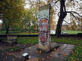 Segment of the Berlin Wall on display outside the Imperial War Museum November 2015.jpg