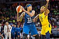 Seimone Augustus (33) looks for an open pass as she's guarded by Cappie Pondexter (25).jpg