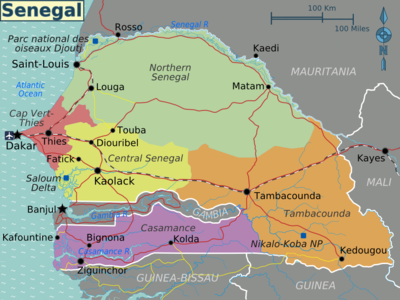 Mappa divisa per regioni