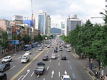 Una tipica strada di Seul