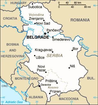 Serbia-CIA WFB Map 2006