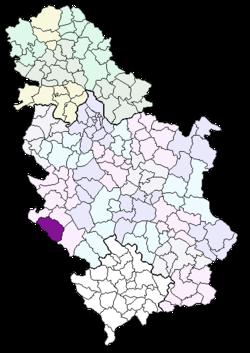 prijepolje mapa srbije Opština Prijepolje — Vikipedija, slobodna enciklopedija prijepolje mapa srbije