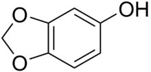 Chemical structure of sesamol