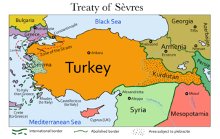 Treaty of Sèvres Unimplemented 1920 peace treaty between the Ottoman Empire and the Allied Powers