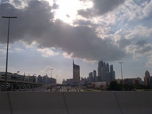 Dubai Media City - Image: Sh Zayed Road