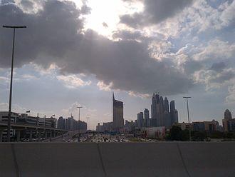 Dubai Media City - Image: Sh Zayed Road