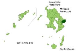 Vị trí của Shibushi ở Kagoshima