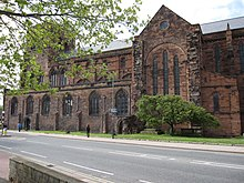 Shrewsbury Abbey transept.
