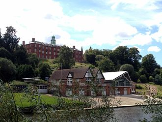 Neville Cardus - Shrewsbury School, seen from the River Severn