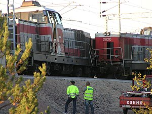 VR Class Dr16 - Six locomotives were involved in a shunting accident in Vartius in 2006. All were returned to service.
