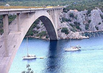 D8 road (Croatia) - Šibenik Bridge carrying D8 state road