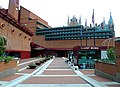 Side entrance to British Library. St Pancras, London - geograph.org.uk - 2277961.jpg