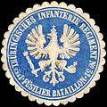 Siegelmarke 1tes Thüringisches Infanterie Regiment No. 31 - Füsilier Bataillon W0221184.jpg
