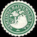 Siegelmarke Gemeinde Hainewalde-Sachsen W0314146.jpg
