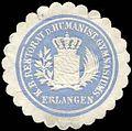 Siegelmarke Königlich Bayerische Rektorat des Humanistischen Gymnasiums - Erlangen W0225583.jpg
