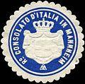 Siegelmarke Ro Consolato d'Italia in Mannheim W0223485.jpg