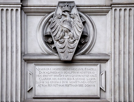The Polish White Eagle is Poland's enduring national and cultural symbol Sigismund's Chapel 01 AB.jpg