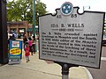 Sign Commemorating Ida B. Wells - Anti-Lynching Activist - Downtown Memphis - Tennessee - USA.jpg