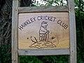 Sign for Hawkley Cricket Club - geograph.org.uk - 1338239.jpg