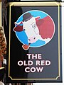Sign for The Old Red Cow, Long Lane, EC1 - geograph.org.uk - 1127917.jpg