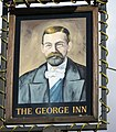 Sign for the George Inn, Middle Wallop - geograph.org.uk - 1044335.jpg