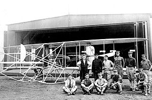 1st Reconnaissance Squadron - Signal Corps Plane No. 1 and crew at Fort Sam Houston, Texas, in May 1910.