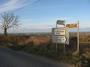 R108 road (Ireland) - Image: Signpost at Tullog, Co. Meath geograph.org.uk 1753717