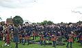 Simon Fraser University Pipe Band coming fourth (9541737366).jpg